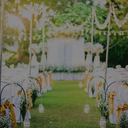 Decoration du lieu du mariage