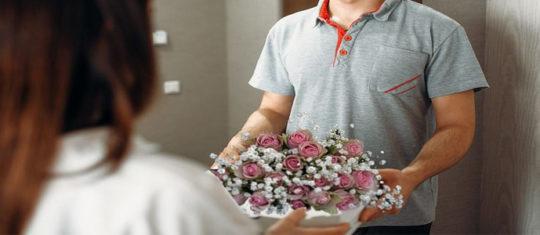 Une livraison de fleurs