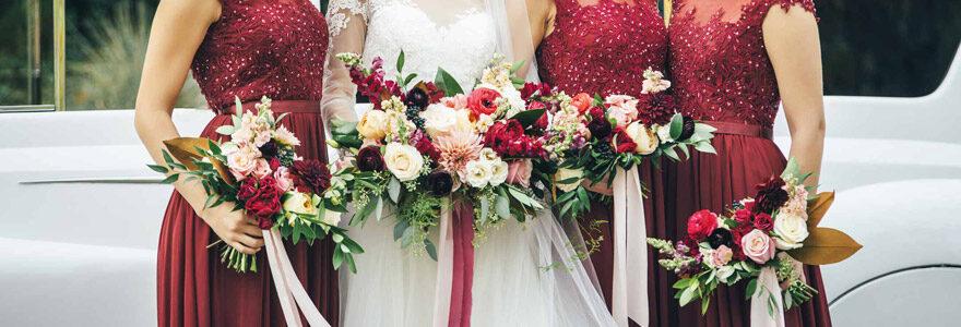 Accessoires pour mariage rouge